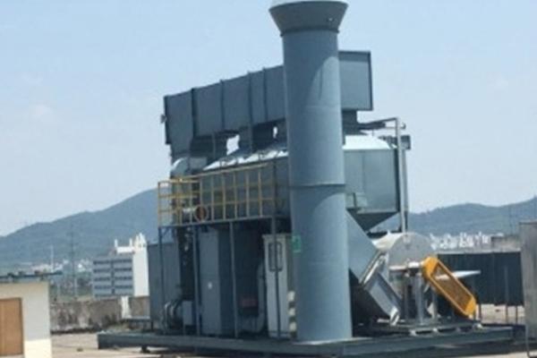 催化燃烧设备转轴前预备处理部分